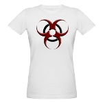 3D Biohazard Warning Symbol