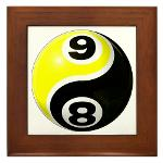 8 Ball 9 Ball Yin Yang Framed Tile