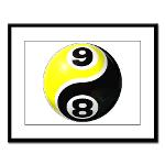 8 Ball 9 Ball Yin Yang Large Framed Print