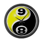 8 Ball 9 Ball Yin Yang Large Wall Clock