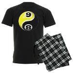 8 Ball 9 Ball Yin Yang Men's Dark Pajamas