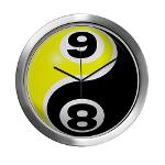 8 Ball 9 Ball Yin Yang Modern Wall Clock