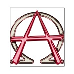 Alpha & Omega Anarchy Symbol Small Poster