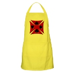 Ace Biker Iron Maltese Cross BBQ Apron