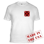 Ace Biker Iron Maltese Cross Fitted T-Shirt