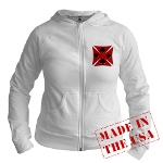Ace Biker Iron Maltese Cross Jr. Hoodie