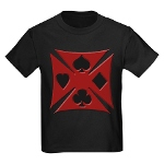 Ace Biker Iron Maltese Cross Kids Dark T-Shirt