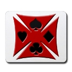 Ace Biker Iron Maltese Cross Mousepad
