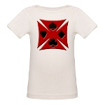 Ace Biker Iron Maltese Cross Organic Baby T-Shirt