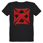 Ace Biker Iron Maltese Cross Organic Kids T-Shirt