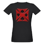 Ace Biker Iron Maltese Cross Organic Women's T-Shi