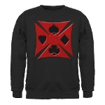 Ace Biker Iron Maltese Cross Sweatshirt (dark)