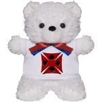 Ace Biker Iron Maltese Cross Teddy Bear