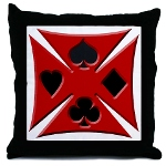 Ace Biker Iron Maltese Cross Throw Pillow