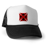 Ace Biker Iron Maltese Cross Trucker Hat