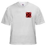 Ace Biker Iron Maltese Cross White T-Shirt