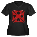 Ace Biker Iron Maltese Cross Women's Plus Size V-N