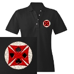 Ace Biker Iron Maltese Cross Women's Polo