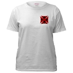Ace Biker Iron Maltese Cross Women's T-Shirt