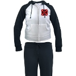 Ace Biker Iron Maltese Cross Women's Tracksuit