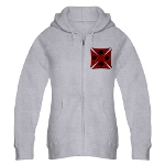 Ace Biker Iron Maltese Cross Women's Zip Hoodie