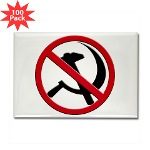 Anti-Communism Rectangle Magnet (100 pack)