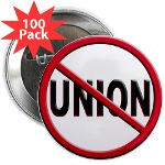"Anti-Union 2.25"" Button (100 pack)"