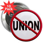 "Anti-Union 2.25"" Button (10 pack)"