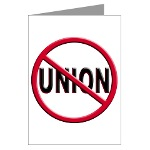 Anti-Union Greeting Cards (Pk of 20)