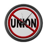 Anti-Union Large Wall Clock