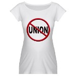 Anti-Union Maternity T-Shirt