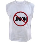 Anti-Union Men's Sleeveless Tee