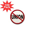 Anti-Union Mini Button (100 pack)
