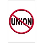 Anti-Union Mini Poster Print
