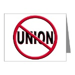 Anti-Union Note Cards (Pk of 10)