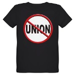 Anti-Union Organic Kids T-Shirt (dark)
