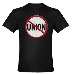 Anti-Union Organic Men's Fitted T-Shirt (dark)
