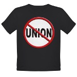 Anti-Union Organic Toddler T-Shirt (dark)
