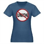 Anti-Union Organic Women's Fitted T-Shirt (dark)