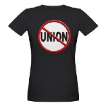 Anti-Union Organic Women's T-Shirt (dark)