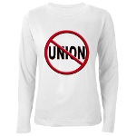 Anti-Union Women's Long Sleeve T-Shirt
