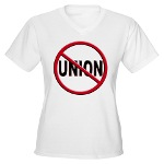 Anti-Union Women's V-Neck T-Shirt