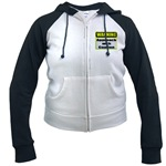 Approach With Caution Women's Raglan Hoodie