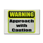 Approach With Caution Rectangular Magnet
