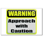 Approach With Caution Mini Poster Print