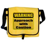 Approach With Caution Messenger Bag
