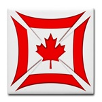 Canadian Biker Cross Tile Coaster