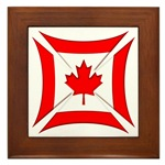 Canadian Biker Cross Framed Tile