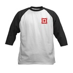 Canadian Biker Cross Kids Baseball Jersey