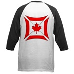 Canadian Biker Cross Baseball Jersey
